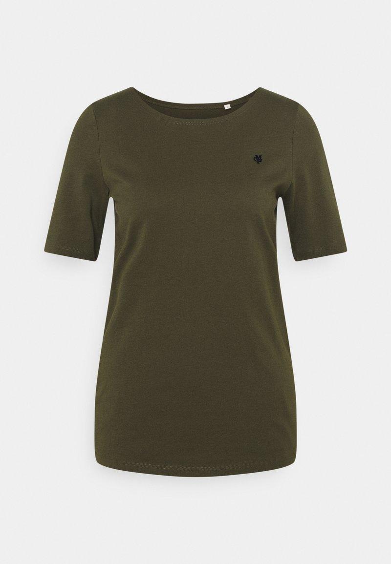 Marc O'Polo - SHORT SLEEVE ROUND NECK - Basic T-shirt - native olive