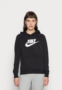 Nike Sportswear - HOODIE - Hoodie - black/white - 0