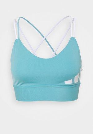 3 BAR LOGO - Light support sports bra - mint ton/white