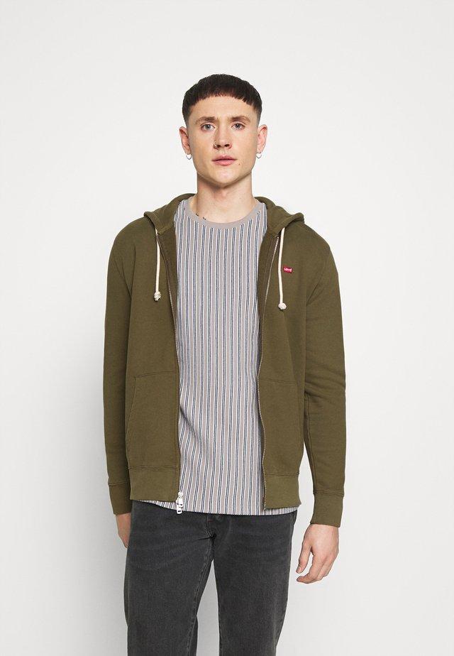 NEW ORIGINAL ZIP UP - Zip-up hoodie - olive night