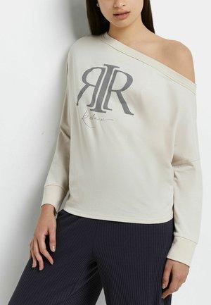 CREAM RI BRANDED - Long sleeved top - cream