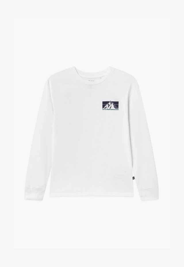 RUFUS LONG SLEEVE - Top sdlouhým rukávem - white