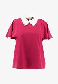Fashion Union Plus - COLLARED BLOUSE - Bluse - solid bordeaux - 4