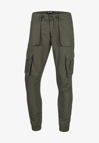 INDICODE JEANS - Cargo trousers - army - 5