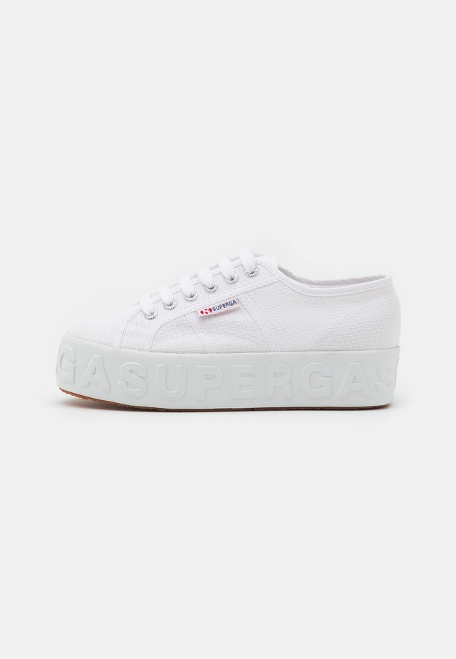 LETTERING 3D - Sneakers laag - white
