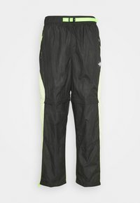 TRACK PANT - Tracksuit bottoms - black/light liquid lime/electric green