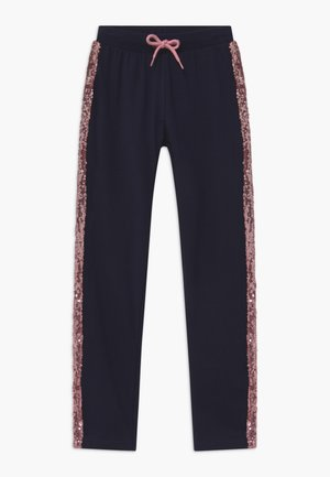 KIDS SEQUIN SIDE STRIPE - Joggebukse - nachtblau