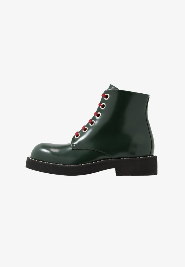 Lace-up ankle boots - deep sage