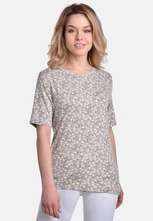 SMALL FLOWERS  - Print T-shirt - beige-white