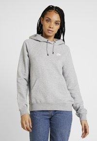 Nike Sportswear - HOODIE - Hoodie - dark grey heather/white - 0