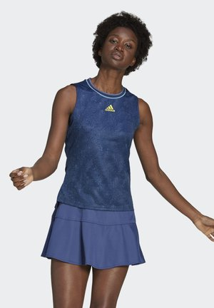 TENNIS PRIMEBLUE PRINTED MATCH SLEEVELESS SHIRT - Toppi - blue