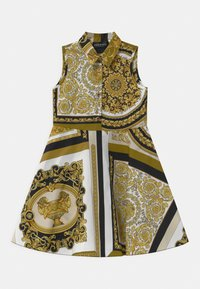 Versace - PRINT HERITAGE - Shirt dress - white/gold/kaki - 0