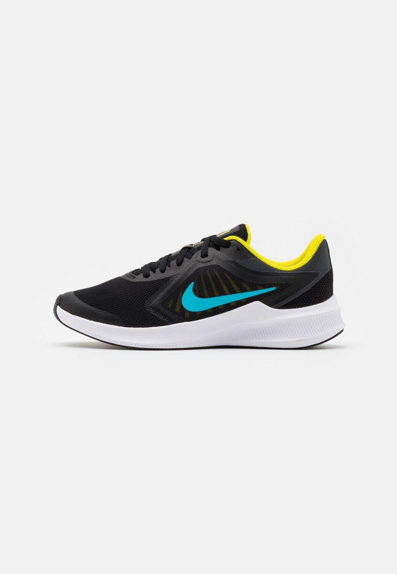 Nike Performance - DOWNSHIFTER - Neutral running shoes - black/chlorine blue/high voltage/dark smoke grey