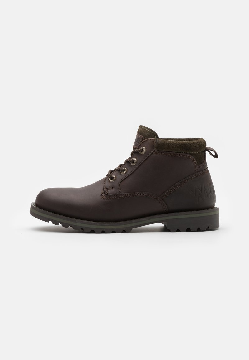 Wrangler - GUN - Lace-up ankle boots - testa di moro