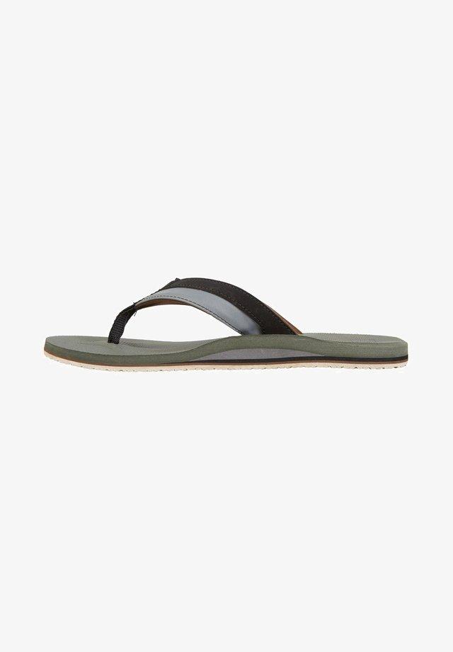 ALL DAY IMPACT - T-bar sandals - dark military