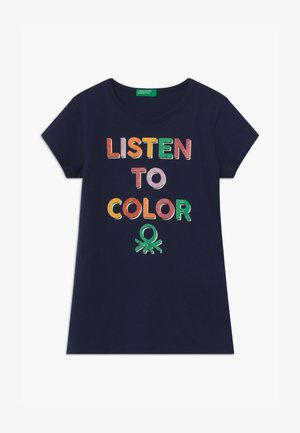 BASIC GIRL  - Print T-shirt - dark blue
