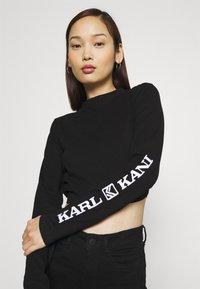 Karl Kani - RETRO CROPPED - Long sleeved top - black - 3