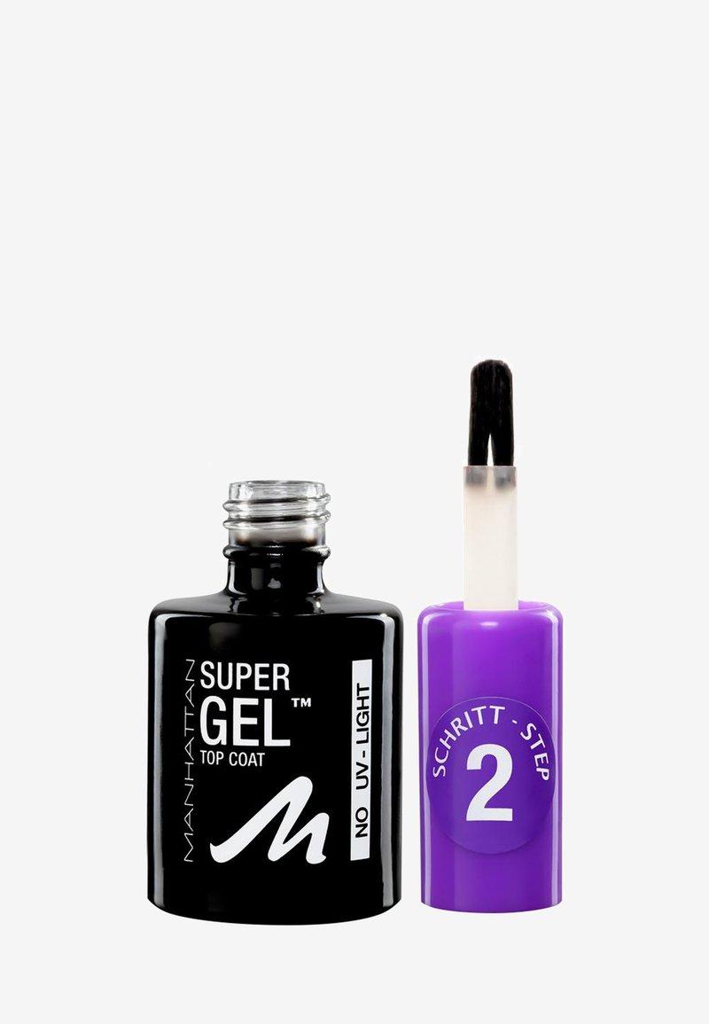Manhattan Cosmetics - SUPER GEL TOP COAT - Nail polish (top coat) - -