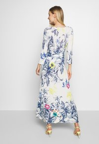 Ivko - VNECK DRESS FLORAL PRINT - Maxi šaty - white - 2
