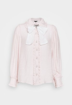 FONDANT RUFFLE BOW - Button-down blouse - pink