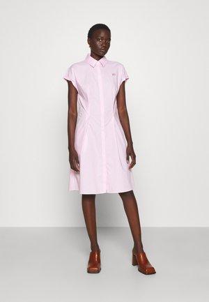 PINSTRIPE POPLIN SHIRT DRESS - Shirt dress - pink