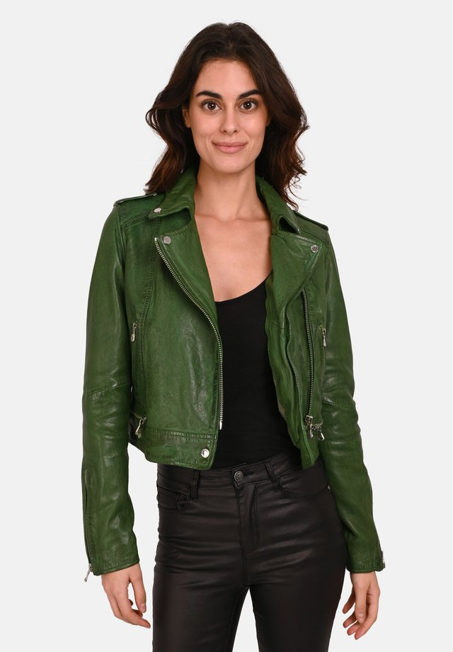 KYOTO  - Leather jacket - green