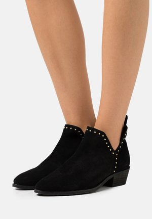 GIANNA - Ankle boots - black/silver