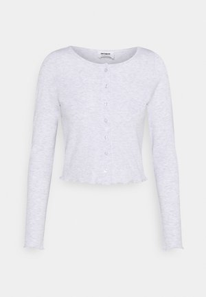 CORI CROP BUTTON THROUGH - Strikjakke /Cardigans - silver marle