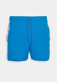 Tommy Hilfiger - LOGOLINE MEDIUM DRAWSTRING - Swimming shorts - blue - 0