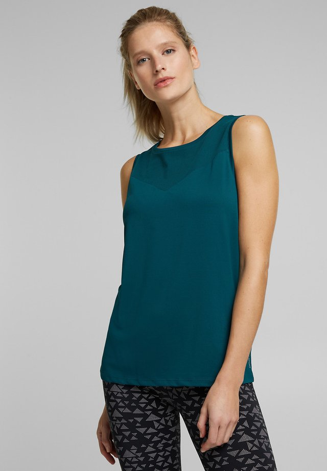 Top - dark teal green