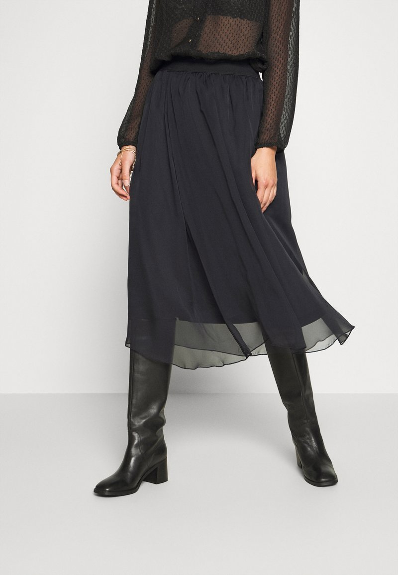 Saint Tropez - CORAL SKIRT - A-line skirt - black