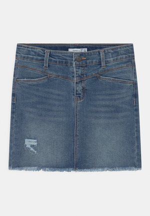 NKFSALLI  - Mini skirt - medium blue denim
