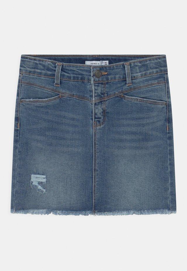 NKFSALLI  - Minifalda - medium blue denim