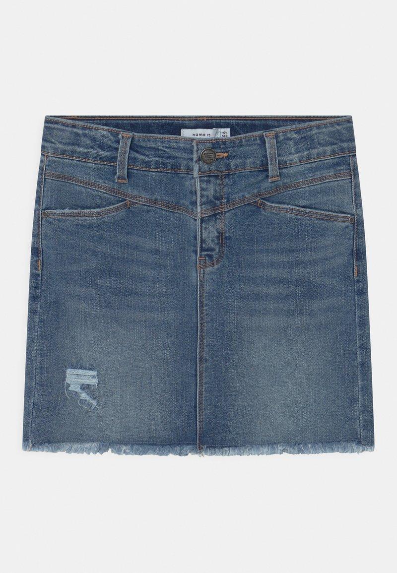 Name it - NKFSALLI  - Mini skirt - medium blue denim