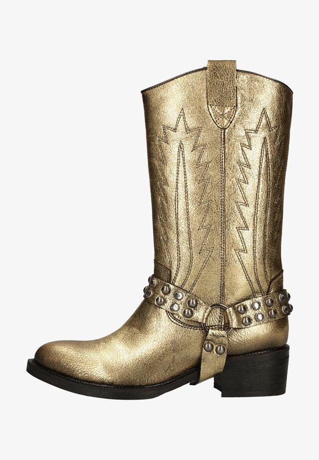 Cowboy-/Bikerlaarzen - gold