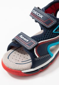 Geox - BOY - Walking sandals - navy/red - 2