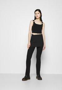 Weekday - SKIRT - Mini skirt - black - 1