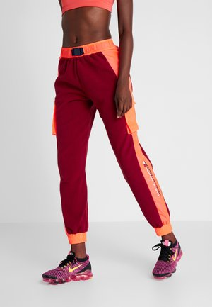 BLOCKED POLAR MIX PANT - Spodnie treningowe - red
