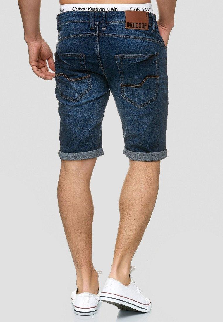INDICODE JEANS CUBA CADEN - Jeans Shorts - blau/dark-blue denim M3tSTU