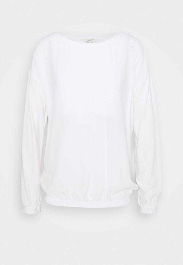 BUBBLE TEE - Blouse - off white