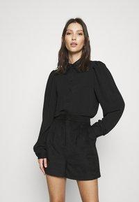 Vero Moda - VMWIGGA COLLAR - Button-down blouse - black - 0