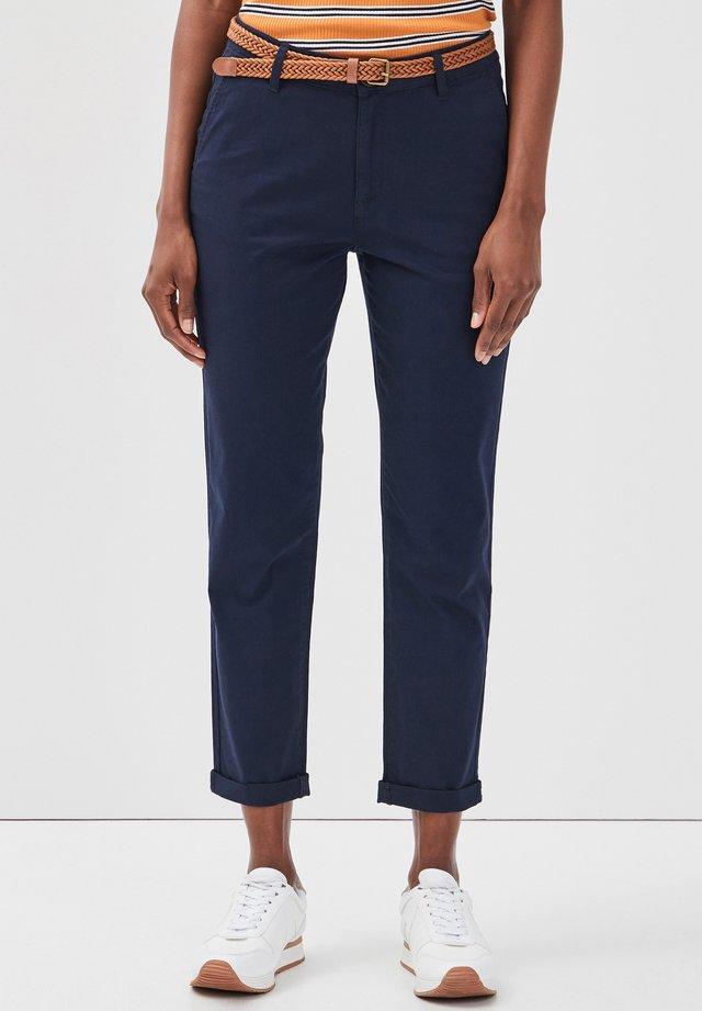 Pantalones chinos - navy blue