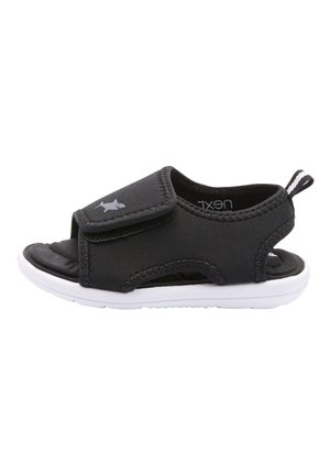 BLACK SINGLE STRAP MEMORY FOAM TREKKER SANDALS (YOUNGER) - Chodecké sandály - black