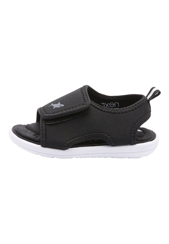 BLACK SINGLE STRAP MEMORY FOAM TREKKER SANDALS (YOUNGER) - Trekkingsandale - black