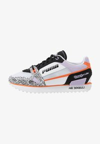 Puma - MILE RIDER - Zapatillas - white/black/dragon fire - 1