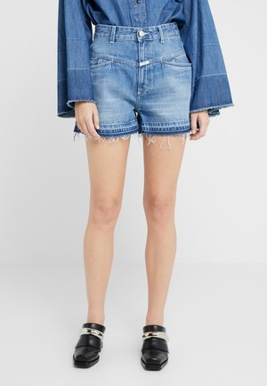 JOCY X - Denim shorts - dark blue