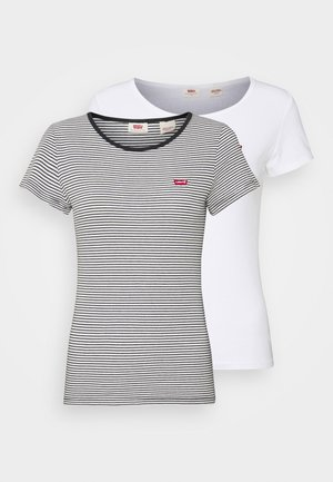 2 PACK - T-shirt con stampa - white/annalise