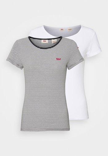 2 PACK - Print T-shirt - white/annalise