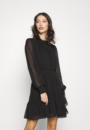 CALLIE SKATER MINI DRESS - Day dress - black