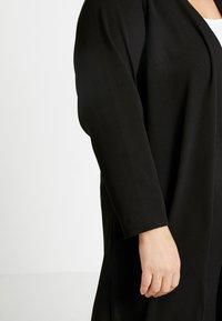 Evans - PEBBLE HEM KIMONO - Summer jacket - black - 5